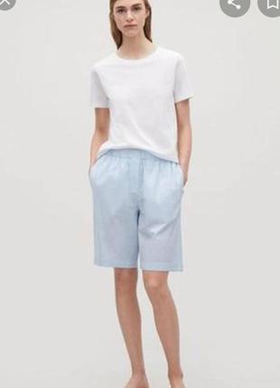 Cos хлопковые шорты бермуды