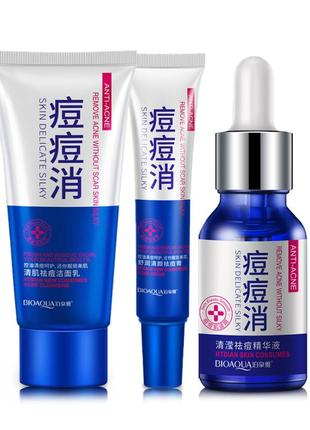 Набор для лечения прыщей и угрей  с маслом ши bioaqua anti-acne