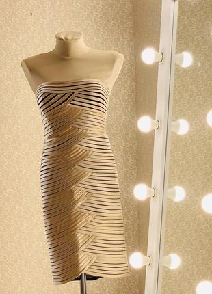 Шикарное вечернее бандажное платье