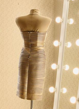 Шикарное вечернее бандажное платье2 фото