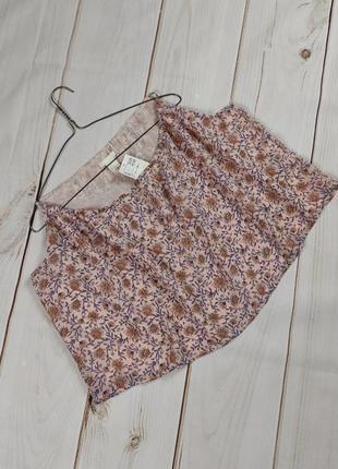 Блуза топ новая модная в цветочный принт h&m uk 14/42/l