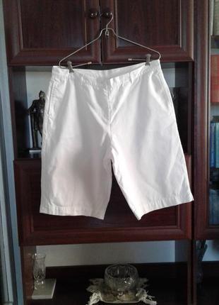 Белые хлопковые бриджи/удлиненные шорты cotton traders батал