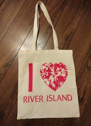 Эко сумка шопер river island