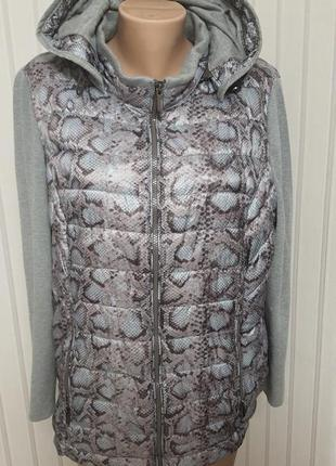Стеганная куртка с трикотажным рукавом charles voegele