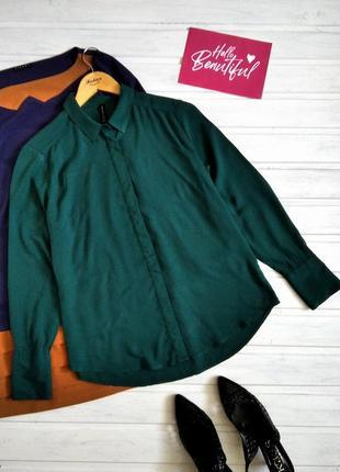 Зелёная рубашка из натуральной ткани