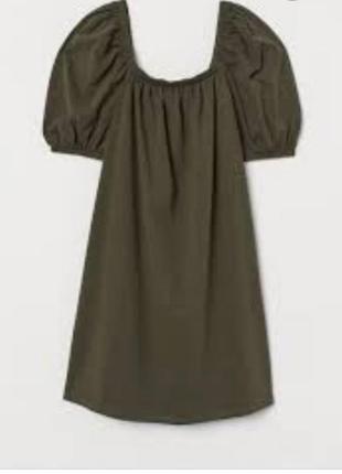 Сукня  hm кольору хаки