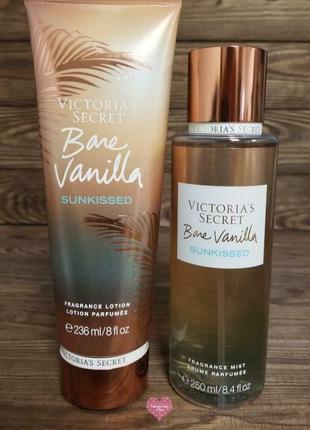 Victoria's secret  bare vanilla sunkissed, подарочный набор,мист, лосьйон, косметика, виктория сикрет