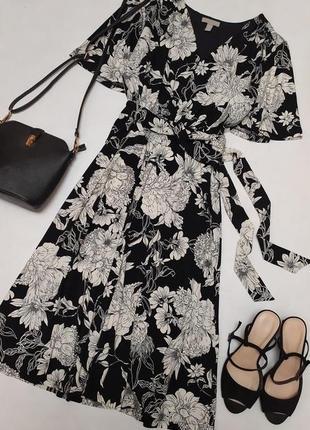 Очень красивое платье миди в цветочный принт