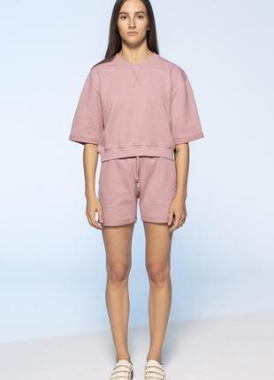 Розовый кроп костюм colo