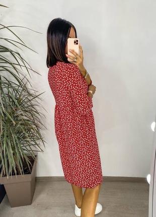 Платье женское летнее миди длинное батал легкое свободное оверсайз3 фото