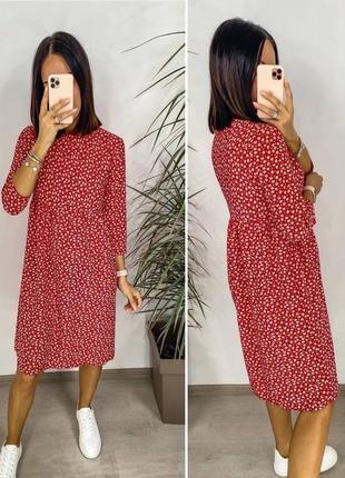 Платье женское летнее миди длинное батал легкое свободное оверсайз4 фото