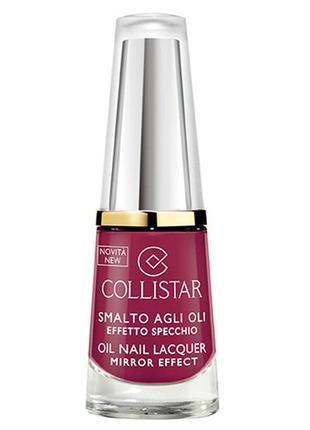 Лак collistar oil nail lacquer mirror effect 321 rosa malva