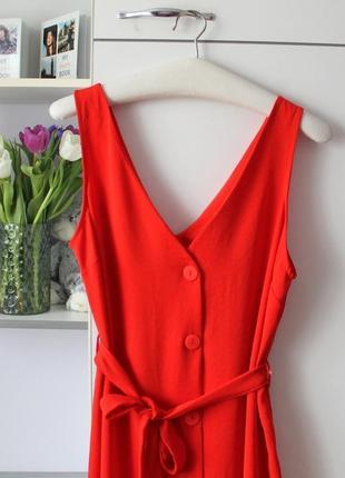 Платье миди коралловое, красное, алое primark