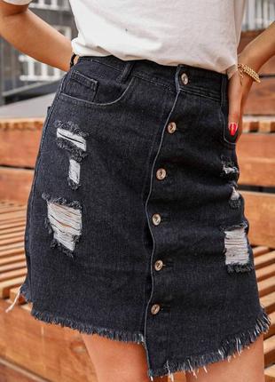 Джинсовая женская короткая юбка,см.замеры в описании товара
