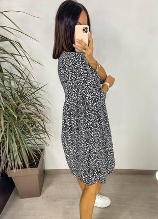 Платье женское летнее миди длинное батал легкое свободное оверсайз6 фото