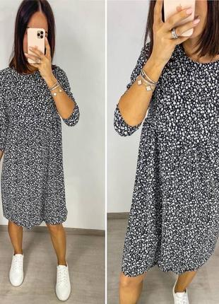 Платье женское летнее миди длинное батал легкое свободное оверсайз5 фото