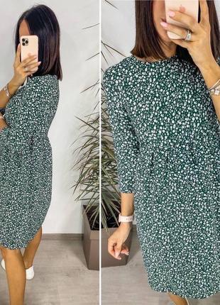 Платье женское летнее миди длинное батал легкое свободное оверсайз8 фото
