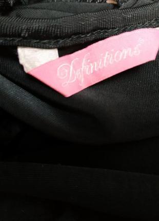 Блузка с кружевной спинкой черная вискоза6 фото