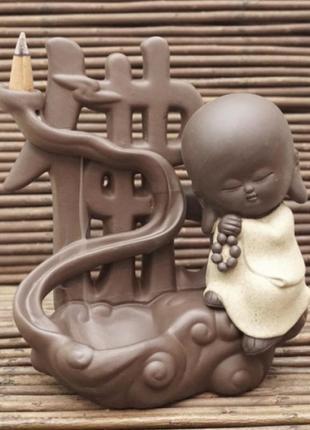 Декоративный вододопад жидкий дым backflow керамический+подарок