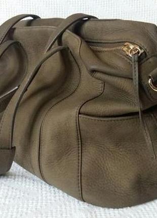 Кожаная сумка из гладкой кожи(нубук) от mary portas( англия)