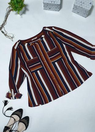 🌺 комфортная рубашка в сдержанных кирпичных оттенках. рукава с подворотом
