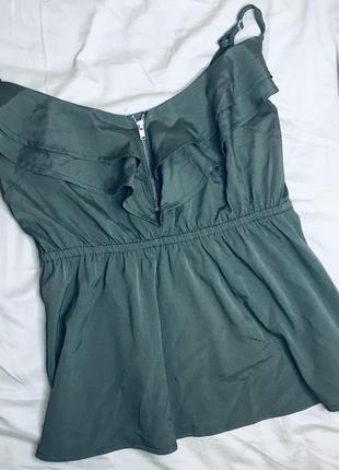 Красивая брендовая блуза с плотного шифона
