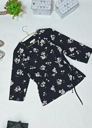 🌺 эффектная блуза на запах с кокетливыми оборками  и шнурком по талии. крой с защипами подчеркивает талию.