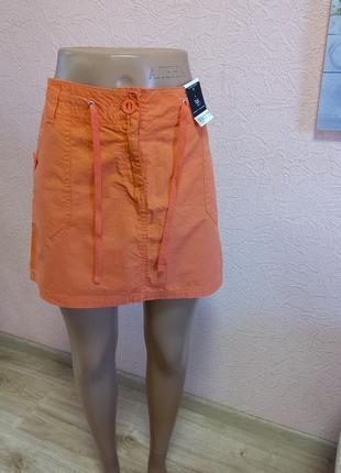 Красивая легкая юбка dorothy perkins  новая 100% хлопок акция 1+1 =3