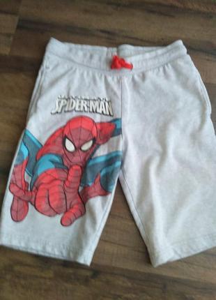 Котоновие шорти spider man 7-8 лет c&a