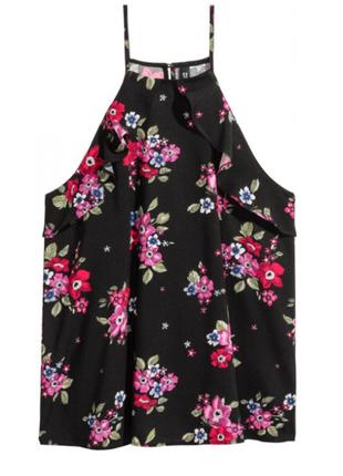 Блуза новая натуральная стильная с рюшами h&m uk 16/44/xl