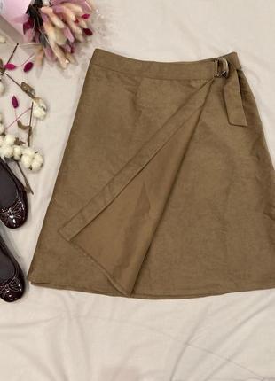 Замшевая юбка на запах tu в стиле zara boohoo