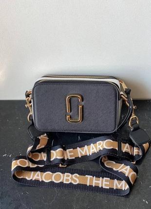Marc jacobs snapshot шикарные женская сумка марк якобс черная золотая гарнитура