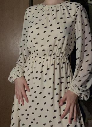 Винтажное платье с принтом