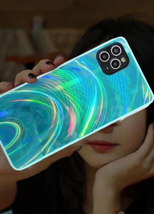 Голографический чехол с переливом на айфон iphone 12,11,10,9,8