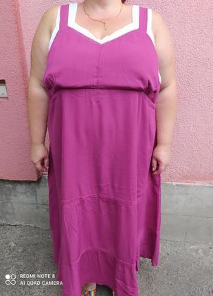 Яркий ☀️🏖️ лёгкий сарафан платье на пышные формы грудь 150!