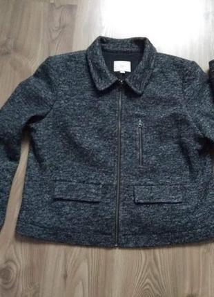 Нова твідова курточка/піджак loft (сша), р. xl (42)