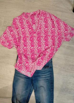 Блуза из вискозы,кофта,розовая блуза,рубашка