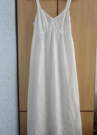 Супер брендовое платье  сарафан хлопок прошва