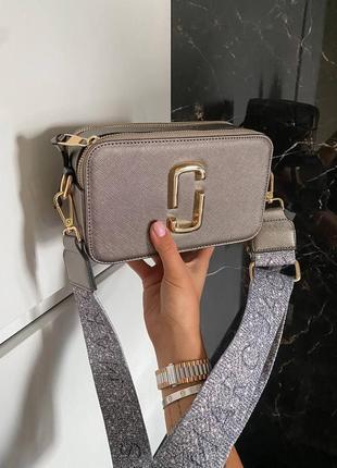 Шикарная женская сумка клатч marc jacobs silver ll