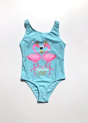 Совместный купальник для девочки фламинго 1,5-8 лет оригинал примарк primark