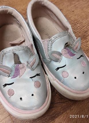 Туфли макасины с единорогом