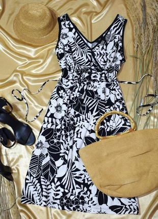 Льняне плаття міді з принтом