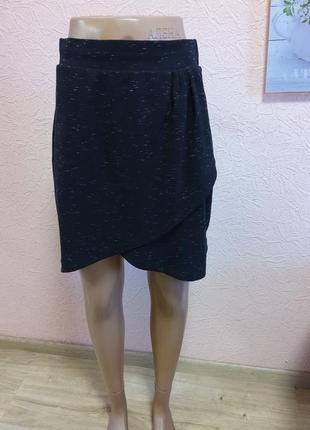 Красивая трикотажная юбка casual ladies вискоза + полиэстр акция 1+1 =3