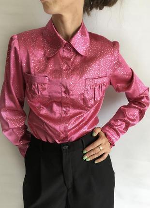 Нарядная блуза цвета фуксия