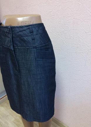 Легкая джинсовая юбка et vous  68 % хлопок акция 1+1 =3