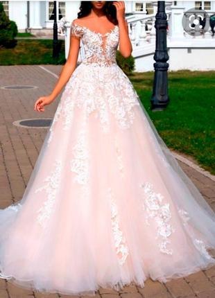 Платье пышное вечернее, свадебное платье, платье на выпускной
