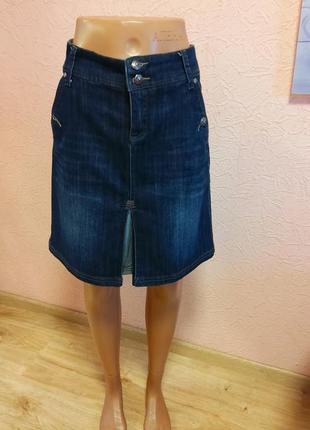 Красивая джинсовая юбка zero 69 % хлопок акция 1+1 =3