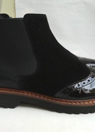 Кожаные ботинки  челси sioux германия р.5(38)