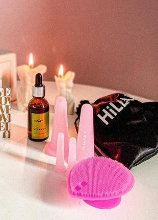 Набір, набор вакуум, вакуумні банки, баночки, масаж + в подарунок арганова олія, олійка