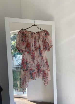Zara блуза шовк